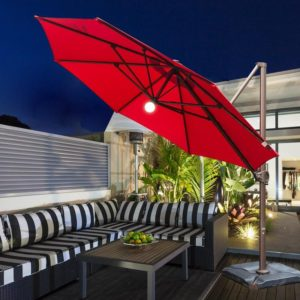 11 Feet Offset Cantilever Umbrella with