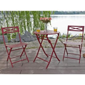 3 PC Outdoor Metal Folding Bistro