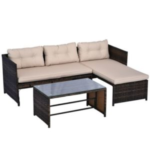 3 Piece Outdoor Rattan Wicker Patio
