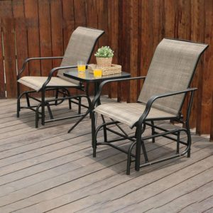 3 Piece Patio Swing Glider Set
