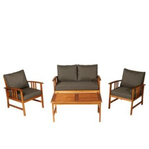 4 Piece Acacia Wood Outdoor Patio