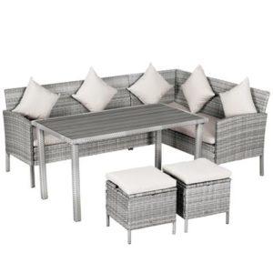 5-Piece Modern Outdoor Wicker Patio Furniture