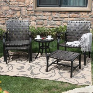 5-Piece Patio Conversation Set with Ottomans