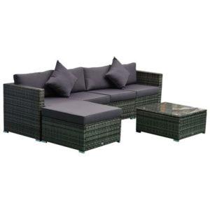 6-Piece Outdoor Patio Rattan Wicker Furniture