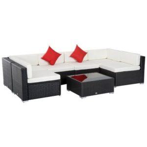 7 PC Outdoor Rattan Wicker Sofa Set
