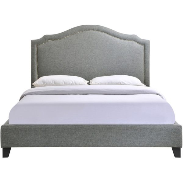 Clive Queen Bed Gray