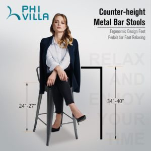 Counter Height Metal Bar Stools