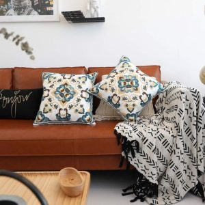Embroidered Decorative Throw Pillow Covers