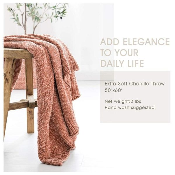 Extra Soft Chenille Throw Blanket