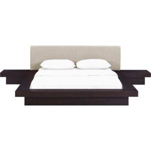 Freyja 3 Piece Fabric Bed Cappuccino/Beige