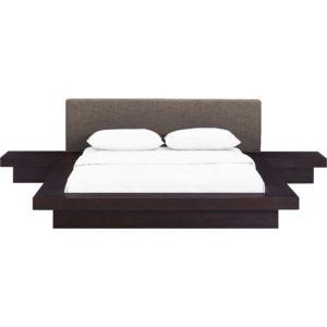 Freyja 3 Piece Fabric Bed Cappuccino/Brown