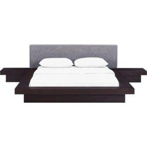 Freyja 3 Piece Fabric Bed Cappuccino/Gray