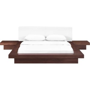 Freyja 3 Piece Vinyl Bed Walnut/White