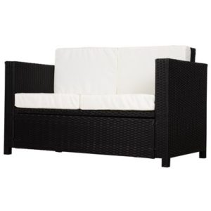 Garden Rattan 2-seat Sofa Wicker Loveseat
