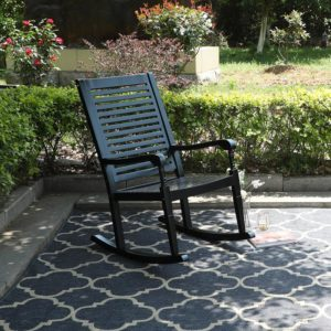 Outdoor Acacia Wood Rocking Chair