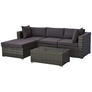 Outside Rattan Wicker Furniture Couch Lounge
