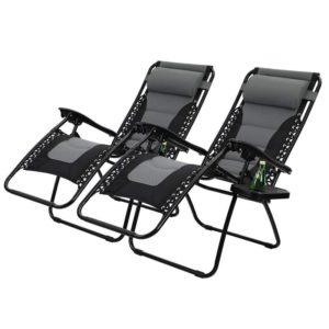 Padded Zero Gravity Patio Lounge Chairs