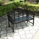 Patio Acacia Wood Bench with Backrest