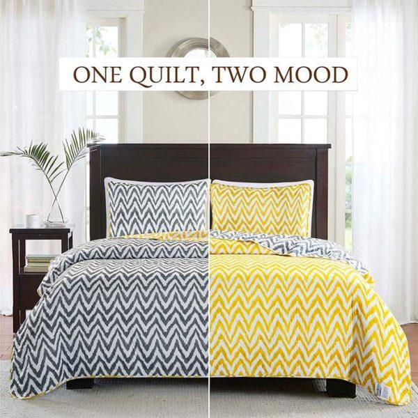Reversible Bedspread Quilt Set