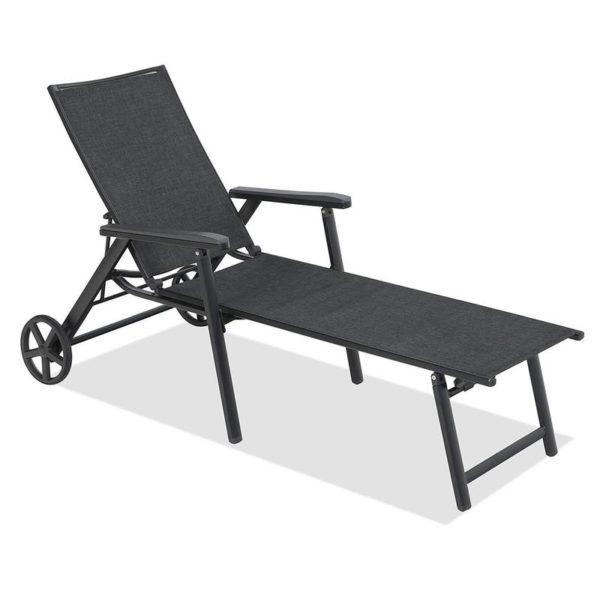 Sling Chaise Folding Back Adjustable Patio