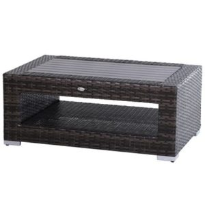 Wicker Rattan Outdoor Coffee Table