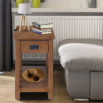 """HOMCOM 24"""" Wooden Side Accent End Table"""