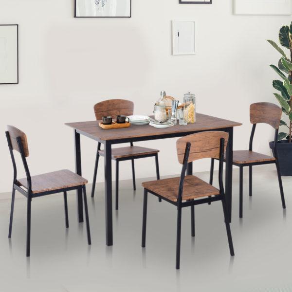HOMCOM 5 Piece Dining Table Set Modern