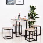 HOMCOM Small Kitchen Dining Set Furniture 5