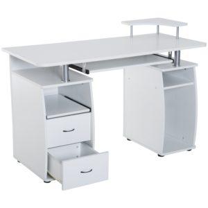 HOMCOM White Corner Computer Desk Home Office/Dorm