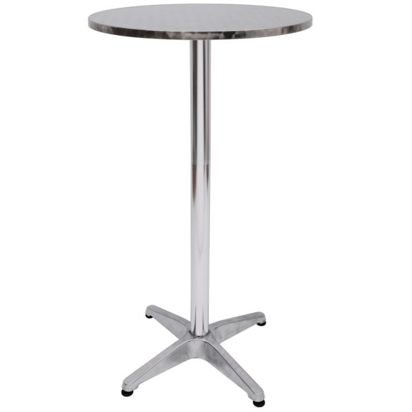 """HomCom 24"""" Round Convertible Stainless Steel Top"""