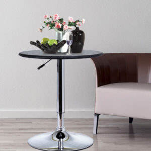 """HomCom 25"""" Round Bistro Table with Classic"""