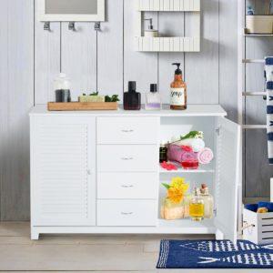 HomCom 47 inch  Bathroom Cabinet Buffet