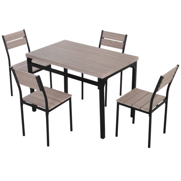 HomCom 5 Piece Dining Table Set Transitional