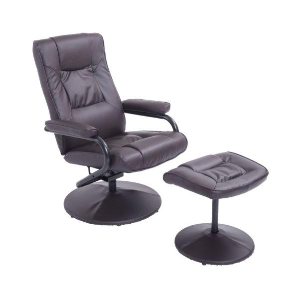 HomCom Ergonomic Faux Leather Lounge Armchair Recliner