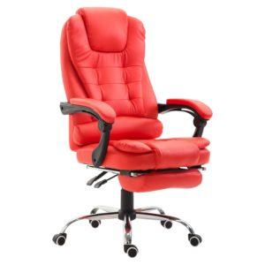 HomCom Leather Recliner Chair PU Executive Seat