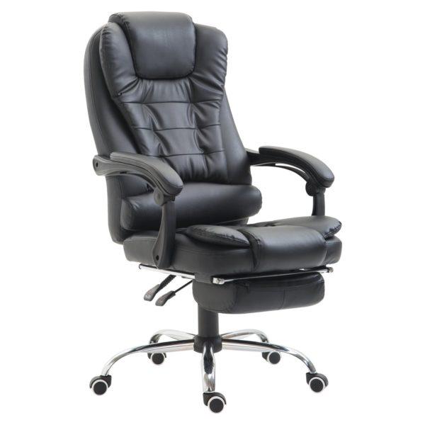 HomCom Modern Ergonomic Reclining PU Leather Executive