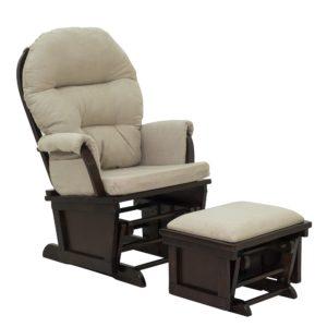 HomCom Nursery Glider Rocking Chair with Ottoman