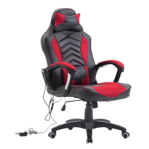 HomCom Racing Style Heated Gaming Chair with