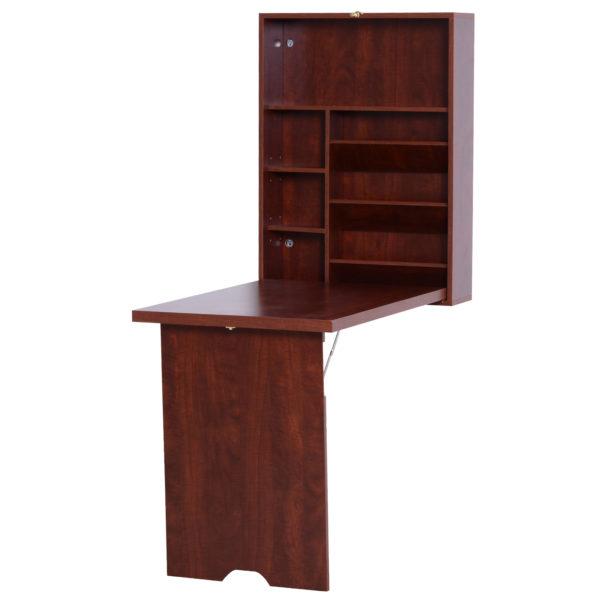 HomCom Wall Mount Fold Out Desk Compact