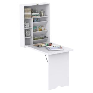 HomCom Wall Mounted Folding Table Fold Down