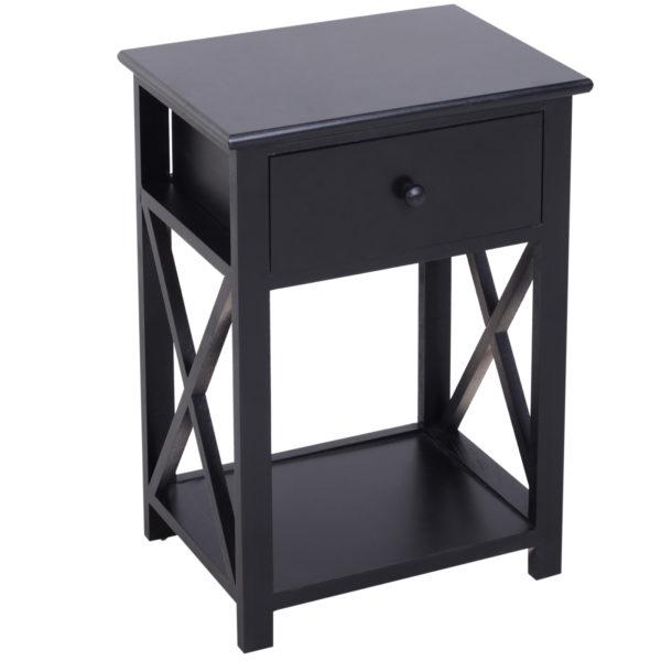 HomCom X Frame Design Wood End Table