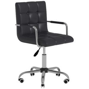 Homcom Armchair Office Chair Modern Tufted Pu