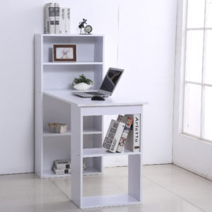 "Homcom Bookshelf Desk 47"" Modern Computer Desk"