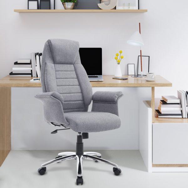 Homcom Ergonomic Office Chair Fabric Executive Leisure
