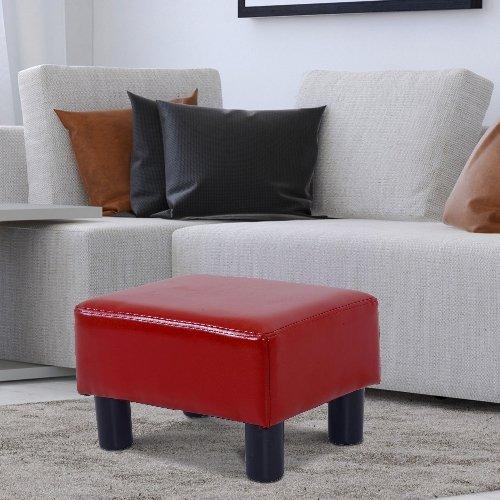 "Homcom Footstool Small Modern 15"" Rectangular Faux"