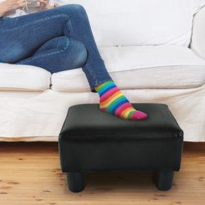 """Homcom Footstool Small Padded 15"""" Ottoman Footstool"""