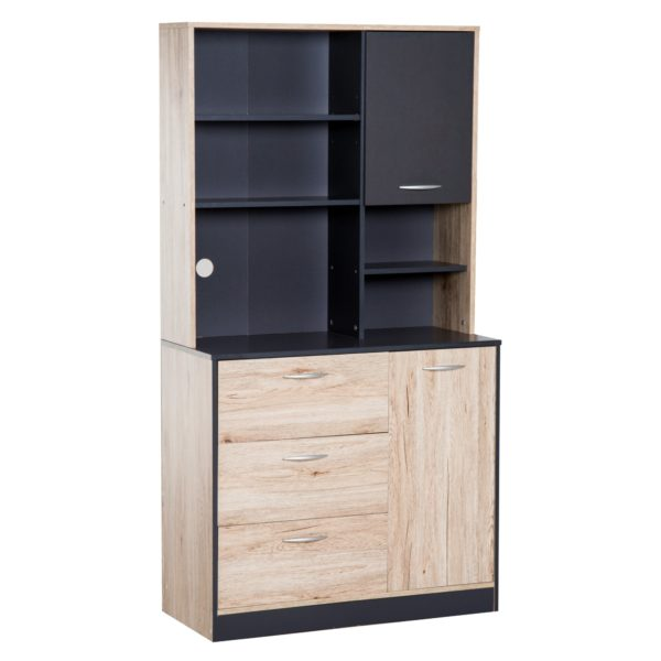 "Homcom Free Standing Kitchen Pantry 67"" Modern"