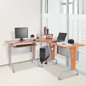 Homcom Gaming L Shaped Desk Compact L