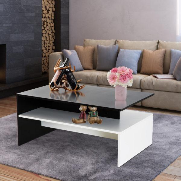 Homcom Modern Coffee Table Rectangle Coffee Table