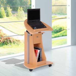 """Homcom Rolling Laptop Desk 32"""" - 46"""""""